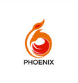 phoenix abstract logo vector image vector image