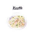 plate italian food risotto vector image vector image