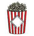 pop corn isolated icon vector image vector image