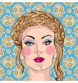portrait of a beautiful blond woman vector image vector image