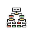 program algorithm flowchart plan workflow vector image