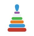 pyramid toy icon vector image vector image