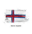 realistic watercolor painting flag faroe vector image