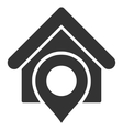 Realty Location Flat Icon vector image vector image