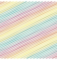 Seamless pattern with rainbow diagonal stripes vector image vector image