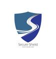 secure shield logo design vector image vector image