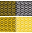 Set of colorful geometric pattern background vector image vector image