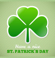 Shamrock sticker vector image