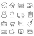 shopping retail and online e-commerce line icon vector image vector image