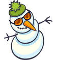 snowman in sunglasses vector image vector image