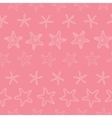 Starfish pink pastel stripe line art seamless vector image vector image
