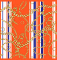 striped chain pattern vector image vector image