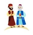 three magic kings of orient cartoon characters vector image vector image