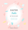 trendy easter sale banner unique design vector image