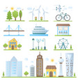 urban city landscape design elements set in trendy vector image vector image