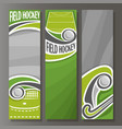 vertical banners for field hockey vector image vector image