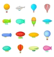 Vintage balloons icons set cartoon style vector image vector image
