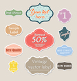 vintage label set for web vector image vector image