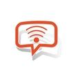 Wi-Fi message sticker orange vector image vector image