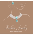 Woman with necklace vector image vector image