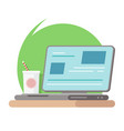 work smart with technology on desktop business vector image