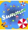 bright summer beach vector image