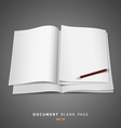 document blank white page and pencil vector image