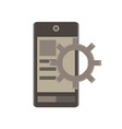 mobile app flat icon business development device vector image