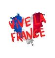 Vive la France hand painted national flag vector image