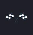 Racing flag computer symbol vector image