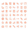 49 network icons vector image vector image