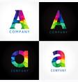 a company color logo vector image