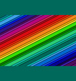 abstract background with rainbow colors oblique vector image vector image