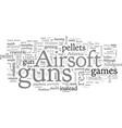 airsoft guns vector image vector image