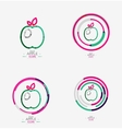 Apple logo concept stamp vector image vector image