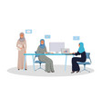 arab women team working on a project