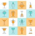 Awards Line Icons Set vector image vector image
