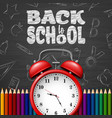 back to school background with doodle elements vector image vector image