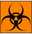 Biohazard orange sign vector image vector image