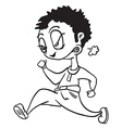 black and white angry man running vector image vector image
