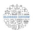 blogger review circular concept outline vector image vector image