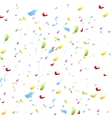 Bright shiny confetti on white background vector image vector image
