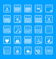 calendar icons set simple style vector image vector image