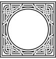 celtic frame vector image vector image