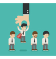 Choosing the best candidate business man vector image vector image