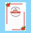 christmas invitation envelope stylish vector image