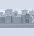 city landscape houses banner cartoon vector image vector image