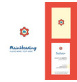 cloud setting creative logo and business card vector image vector image