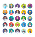 collection of professional flat icons of professi vector image vector image