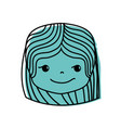 color girl head with hairstyle and rogue face vector image vector image